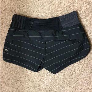 Black & Gray striped LuLu shorts